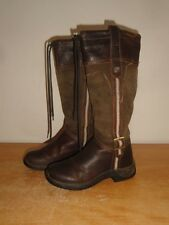 "Women's Brown Leather DUBLIN 15"" Tall Equestrian Riding Motorcycle Boots Sz-7.5"