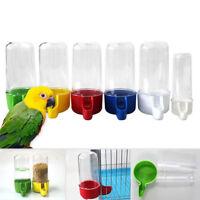 50/200ml Pet Bird Parrot Food Water Feeder Drinking Bowl Bottle Dispenser
