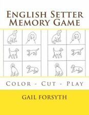 English Setter Memory Game: Color - Cut - Play