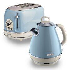 Ariete Retro Style 1.7L Jug Kettle & 2 Slice Toaster, Vintage Design, Blue