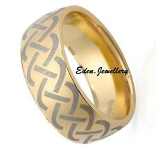 Superb Brand New Men Ring Band Made in Gold Plated Stainless Steel Size 12