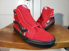 Rare Vans Sk8 Hi Reissue Festival Satin red/floral, size 7.5 Men / 9 women