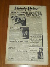 MELODY MAKER 1951 #918 APR 21 JAZZ SWING LEW STONE EDMUNDO ROS RAY ELLINGTON