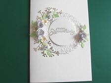 Personalized Handmade Luxury Silver Anniversary/Wedding Card Roses  Boxed