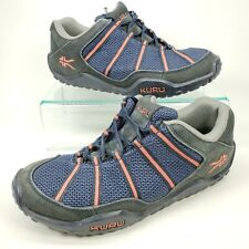 Kuru  Chicane Womens Comfort Trail Hiking Shoes Size 9.5 Black / Blue NO INSOLES