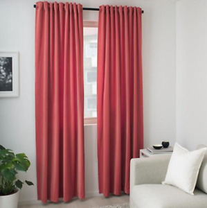 IKEA SANELA Blackout Velvet Curtains 304.444.87 22434 PINK