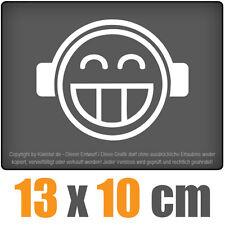smilie SMILY 13 x 10 CM JDM Pegatina Pegatina Carreras Cristal Coche Auto Blanco