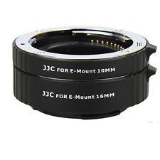 JJC AET-NEXS Auto Extension Tube 10mm & 16mm Fr Sony NEX E Mount NEX7 NEX6 7R 7S