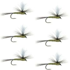Parachute Blue Winged Olive BWO Trout Dry Fly Fishing Flies - 6 Flies - Size 16