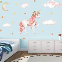 Wandtattoo Wandsticker Wandaufkleber Einhorn Unicorn weq Aufkleber Kinderzimmer