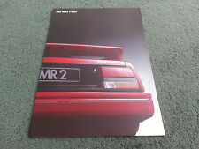 March 1988 TOYOTA MR2 T-BAR T Bar - GERMAN BROCHURE + SPECIFICATION