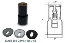Swimming Pool Deck Jet w/ Cap Tan White Black Grey (25597-000) - 25597000