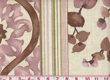 Overstock First Quality Braemore Drapery Upholstery Fabric Bloom Stripe Amethyst