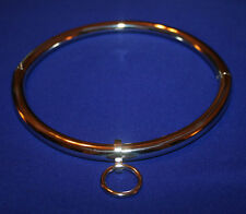 Polished Stainless Steel Eternity Style Slave Collar O-Ring Locking Restraint L