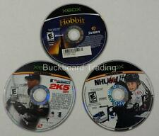 Xbox Videogames Discs The Hobbit, NHL & MLB 2K5 Discs Only Used FREE SHIPPING