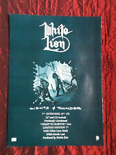 WHITE LION  - 1 PAGE ADVERT -MAGAZINE CLIPPING / CUTTING