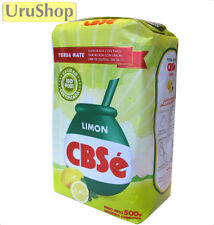 Y52 YERBA MATE CBSE LIMON/LEMON TEA 500G CON PALO/STEMS
