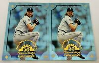 Lot of 2 ~ 1998 Leaf Fractal Foundation RANDY JOHNSON Parallel #30 #'ed/3999