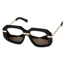 New Karen Walker SUPERSTARS CREEPER 1501400 Blk & Gold/Gold Mirror Sunglasses