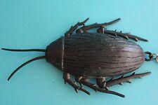 Giant Black Cockroach 14cm Rubber Keyring Keychain