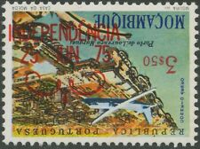 Mocambique 1975 Airmail Stamp 3.50 e Port of Lourenço Marques inverted OverPrint
