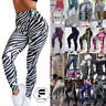 Women Yoga Pants Fitness Leggings Running Jogging Gym Exercise Sports Trousers A