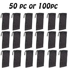 Cheap Bulk Lot 50 or 100 Black Micro Fiber Sunglasses Carrying Pouch Case Bag Ne