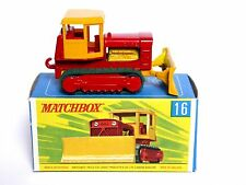 Matchbox Lesney No.16d Case Tractor Bulldozer In Type G Regular Wheel Box (VNM!)