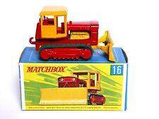 Matchbox Lesney No.16d caso Tractor Bulldozer en tipo G Caja de rueda regular (VNM!)
