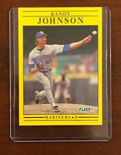 Randy Johnson  Baseball Card Score Fleer  Mariners - P - BASEBALL