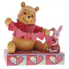 Disney WINNIE The Pooh Handmade Valentine Pooh & Piglet Figurine 4059746