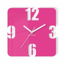 Modern Pink  Large Wall Clock Home Decoration Living Room Bedroom Office Silent