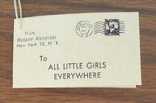 1950s Madame Alexander CISSY Wrist Hang TAG  1st issue (Reproduction)