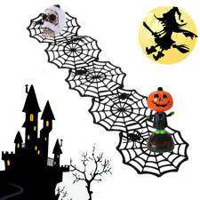 Halloween Spider Web Tablecloth Party Table Decoration Halloween Black Cup Mat