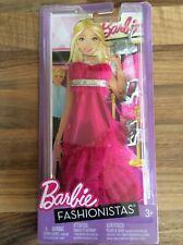 Barbie Pink & Silver Fashionista Evening Prom Dress Matching Shoes & Bag BNIB