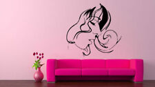 Wall Decal Sticker Room Decor Woman Face Beautiful Hair Curls Eyes Lips bo2506