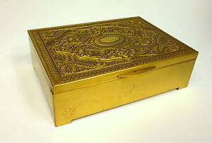 Cigar Box Erhard & Sohne Um 1900 Gold Plated