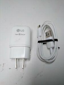 Cargador Rapido para la pared para  LG G5 G6 G7 Stylo 4 V30 V20 V50 V40 V60 K51