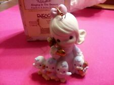 """Precious Moments 456012 """" Ringing In The Season"""" Ornament 4Th In Series Of 12"""