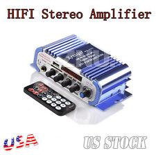 2CH Super Hi-Fi Mini AMP Audio MI Digital Powerful Stereo Mp3 Amplifier FM Radio