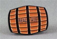 REAL ALE BEER KEG PIN BADGE NEW