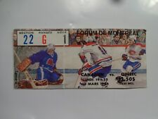 montreal canadiens 1986 hockey ticket stub vs quebec