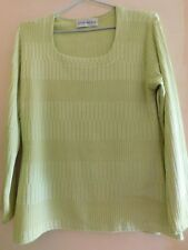 Pull Christine Laure vert anis taille 40/42