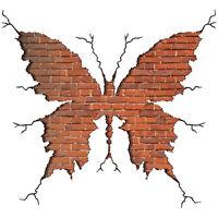 3D Butterfly Broken Wall Sticker Mural Removable Decal Art Bedroom Home Decor