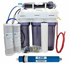 DI Reverse Osmosis Deionization System 5 Stage RO 100 GPD Aquarium Water Filter