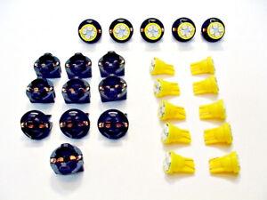 "15 Amber 4 LEDs Light Bulbs 1/2"" Sockets Side Marker License Plate Dash Ford 194"