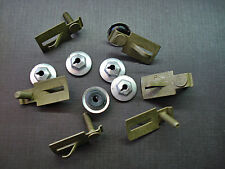 6 pcs GM body side door trunk quarter belt moulding clips & sealer PAL nuts NOS
