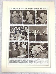1953 Vintage Print Mohammad Mosaddegh Iranian Prime Minster Political History