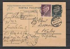 POLEN, 1938 Ganzsache P 77 mit R.-Stempel Warschau, (28712)