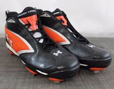 Under Armour Men's YYII-S1 Football Metal Cleats Black Orange Size 13 /3A4